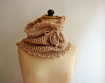 Pattern Crochet Cowl Neck Warmer, Circle Scarf, Snood, Infinity Crochet Scarf, 250