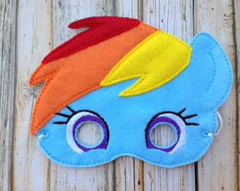 Rainbow Dash Inspired Mask