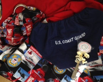 Coast Guard baby gift pack diaper covers/ bloomers, baby sling