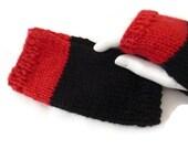 Womens Knit Fingerless Gloves, Knit Fingerless Mittens, Knit Wristwarmers, Wool Gloves