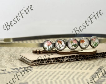 2 pcs of New style Antique Bronze bobby pins with Round Cabochon pad , Headband Base- 12mm Round Cabochon Setting