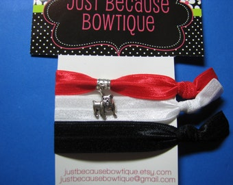 No Crease Hair ties - Georgia- Bulldogs - Great Stocking Stuffer!!