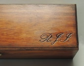 Initial carving, have your intials engraved into any wood item purchased from KatarahsAttic.