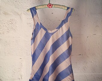 striped silk tank