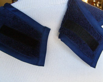 Navy Terry Cloth Adult Bib reversible extra long