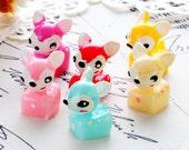 6pcs  Kawaii Cute Plump Deer Deco Cabochons Resin Cabochon --(CAB-BQB-MIXSS)