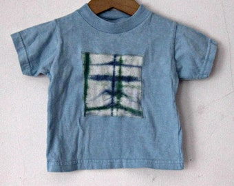 Blue Cotton Baby Tee Shirt 18 months Tie Dye