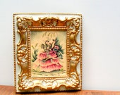 Vintage Bernard Picture Art Print in Ornate Frame