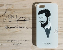 iPhone and Samsung galaxy case made in italy Handlebar mustaches smartphone case