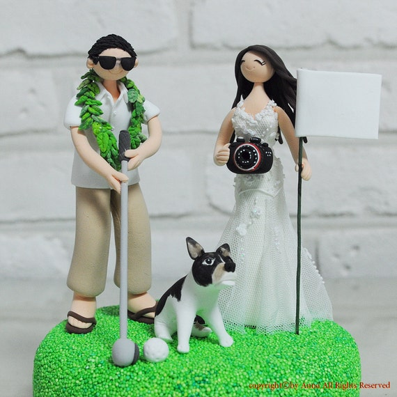 wedding cake toppers golf theme outdoor golf theme custom wedding cake topper 26482