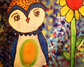 Mixed Media:  Owl always love you