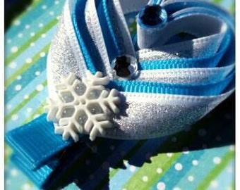Set of 2 Frozen Heart hair clip barrettes