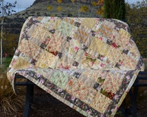 Quilted Floral Throw, French Country