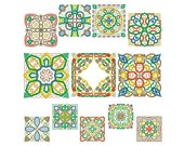 AFRICAN BLOCKS - Machine Embroidery - Instant Digital Download