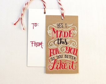 gift tag - I made this - Set of 10 with twine