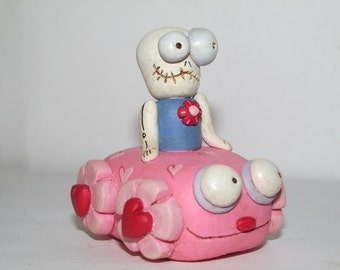 Valentines Skelly love joy ride by Janell Berryman Pumpkinseeds