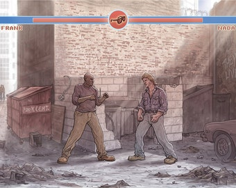 THEY LIVE: Alley Fight giclée print