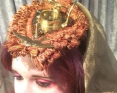 Steampunk Fascinator with Compass and Train
