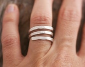 Silver Minimal Ring, Ethnic Jewelry, Unisex Ring, Modern Silver Ring