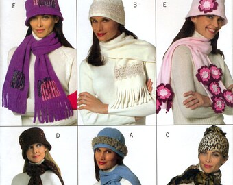 Butterick B4675 Misses' Hats, Scarves and Muffs Sewing Pattern - Uncut - All Sizes