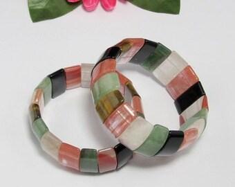 beautiful stretchy Bracelet IN Multi Gemstone