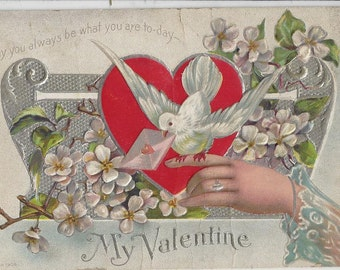 "Antique ""My Valentine"" Postcard, 1912"