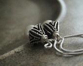 Freshwater Pearl Earrings | Sterling Silver Earrings | Bali Earrings | Wedding Anniversary Jewelry | June Birthstone