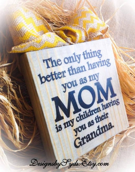 Grandma Sign , Wood Block , Plaque , Burlap SIgn , Personalize , Nana Mimi Meme Gigi , Mother's Day Gift