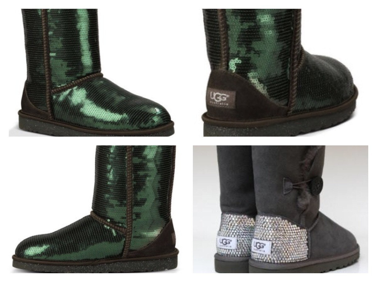 crystal ugg boots made with swarovski short by theilllines. Black Bedroom Furniture Sets. Home Design Ideas