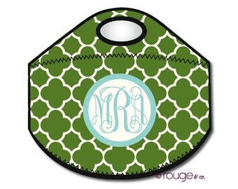 CLOVER monogrammed lunch tote - with customizable pattern and monogram