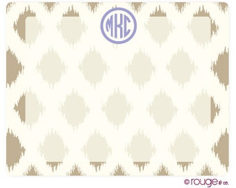 IKAT memo boardwith monogram - magnet and dry erase marker included
