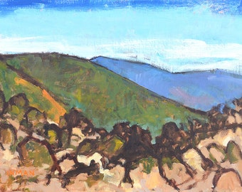 Mountains in Temecula California Landscape Painting