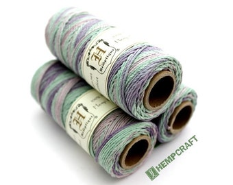Hemp Twine, Multicolored - Cotton Candy High Quality 1mm Hemp Cord
