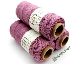 Hemp Twine, Pink - Tickle Me Pink 1mm Colored Hemp Cord