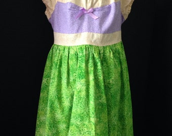 Princess Ariel Inspired Boutique Peasant dress