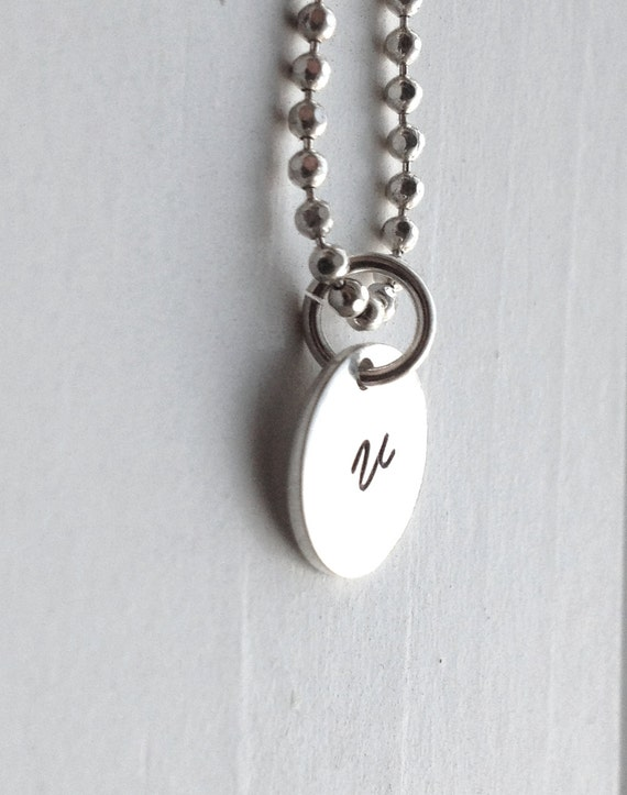 small initial necklace sterling silver jewelry all letters