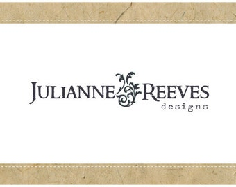 SALE - PreDesigned Custom Vector Logo Design JULIANNE Logo - Custom Business Branding