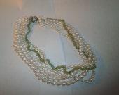 Vintage Necklace Genuine Pearl, Parado Rocks Silver Plate Clasp circa 1990's