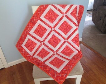 Red Mini Floral Baby Quilt