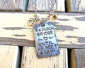 Customized, Rainbow Bridge, Pet Memory, Pet Loss, Necklace