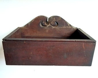 Antique Wooden Storage Box