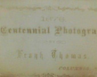 SALE Antique 1876 American Centennial Photograph