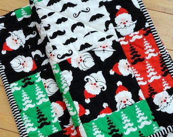 Christmas Quilt - Merry Mustaches