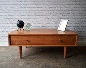 Oxelaand Coffee Table with Drawers - Solid Cherry - Teak - Custom for Kate