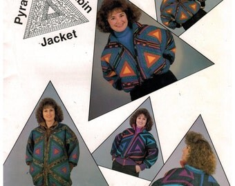 Quilting Pattern for Jackets - Pyramid Log Cabin