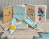 Miniature Paper Shoes and Journals Kit