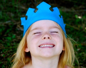Eco Friendly Crown - Dress Up - Blue - Toy - Imaginative Play - Costume - King - Queen - Princess