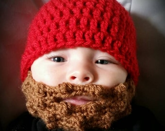 Beard Beanie Hat Cap Crochet You choose size and color