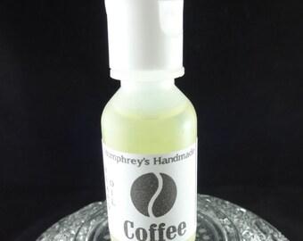 COFFEE Beard Oil, Cologne Oil, Small .5 oz Beard Conditioner, Natural Beard Oil for Men, Coffee Bean Scented Apricot Kernel Oil, Avocado Oil