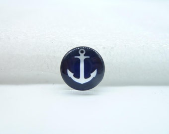 10pcs 12mm Handmade Photo Glass Cabochons(anchor)  GB56-25
